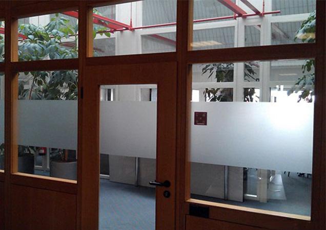 Sichtschutzfolie im Büro