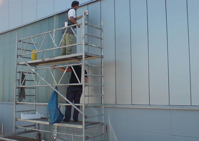 Befestigung von Grünglas Industrieglas