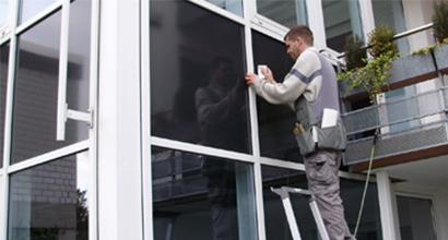 Sichtschutzfolie bei einem Bürogebäude in Plochingen